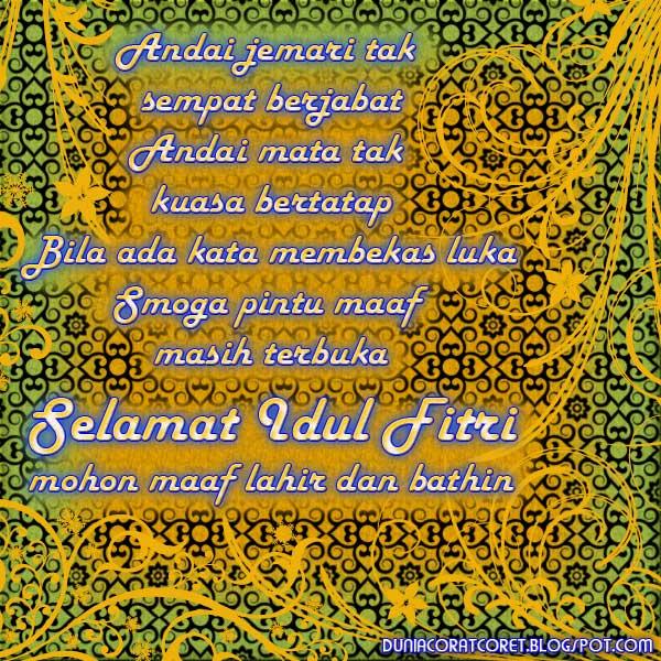 Kata2 (Bergambar) Bijak Ucapan Lebaran Idul Fitri
