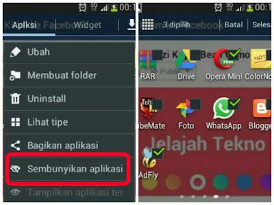 hide aplikasi