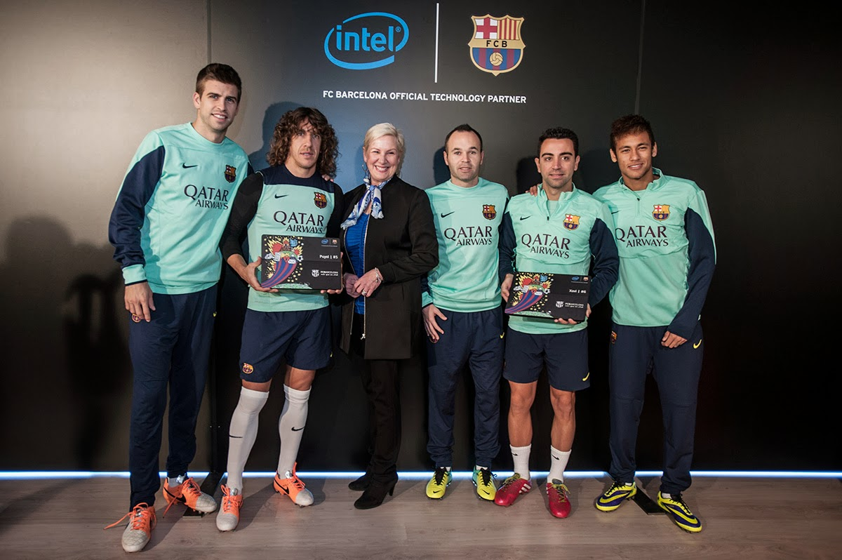 Intel sponsor of FC Barcelona, new tech,