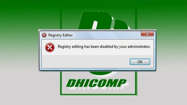 Registry Editor Error-Dhicomp