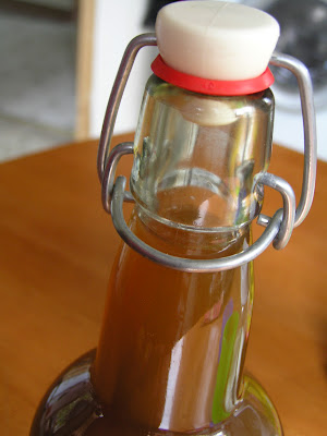bottled homemade kombucha