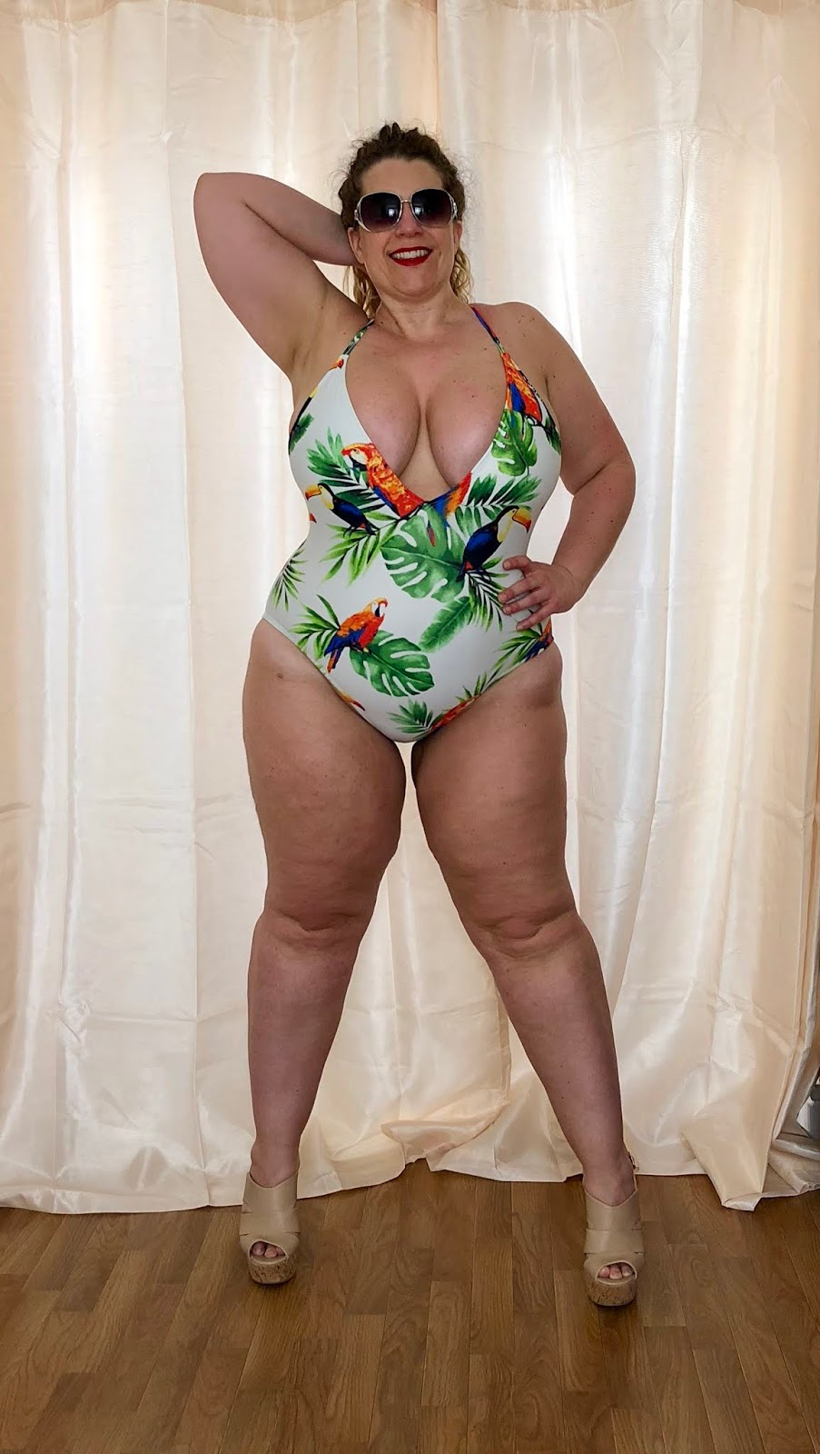 Forever 21+ Bird & Leaf Print Swimsuit
