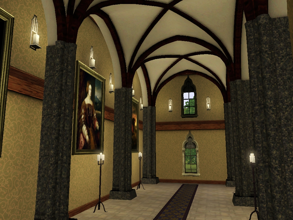 Gothic Arched Pillar Set For Ts3