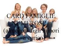 card per famiglie con almeno tre figli minori a carico