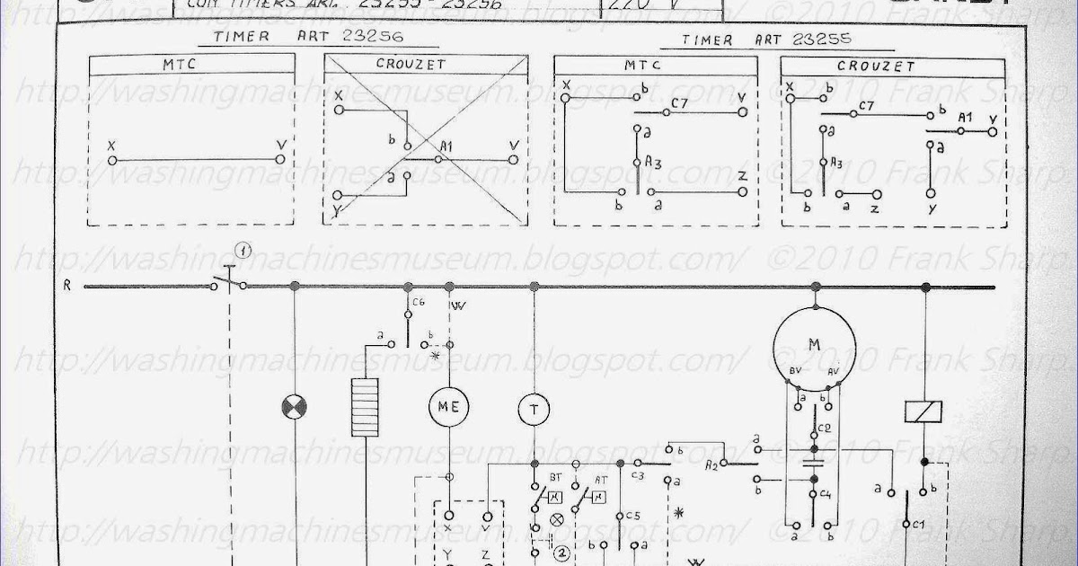 candy washing machine with timer 23255 23256 schematic diagram