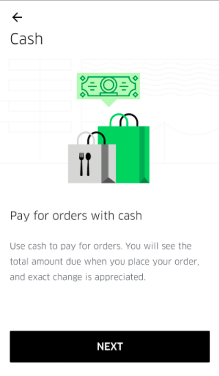 More access to restaurants at the push of a button: Introducing cash payments on UberEATS