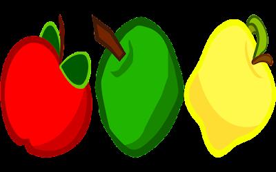 clipart gambar 3 buah apel