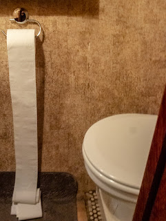 Photo of the loo roll that unrolled itself
