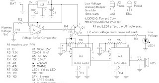 Battery Low Voltage Beeper Circuit