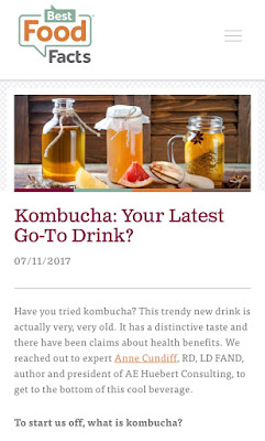 Best Food Facts Article on Kombucha by Anne Elizabeth Cundiff