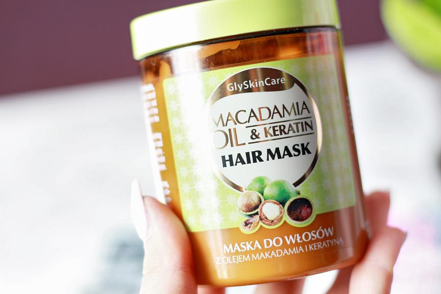 Maska do włosów z olejkiem makadamia i keratyną | GlySkinCare