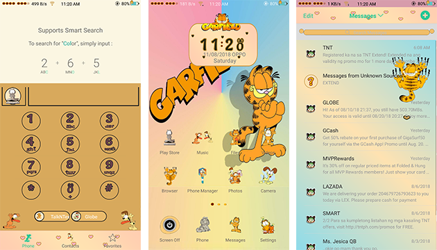 Oppo Theme: Oppo Garfield Theme