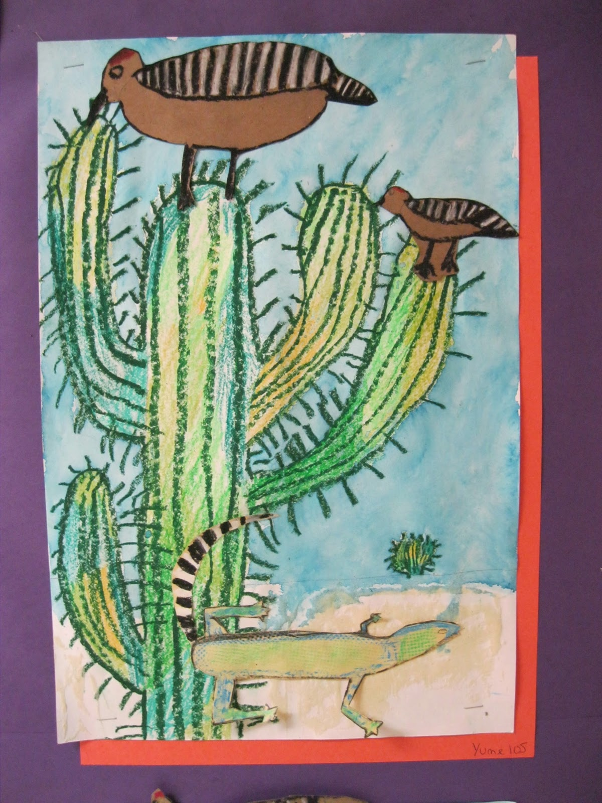 Color Collage And Much More 1st Grade Desert Habitats