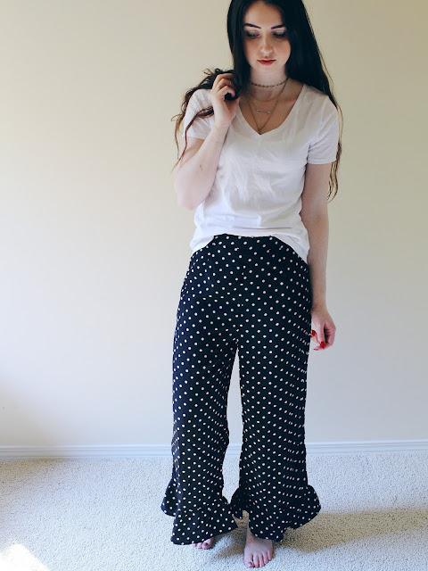 polka dot SHEIN pants
