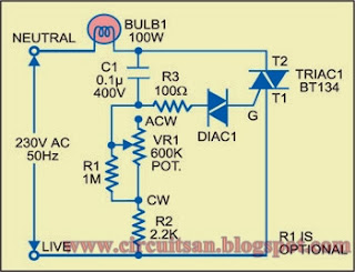 light dimmer circuit diagram