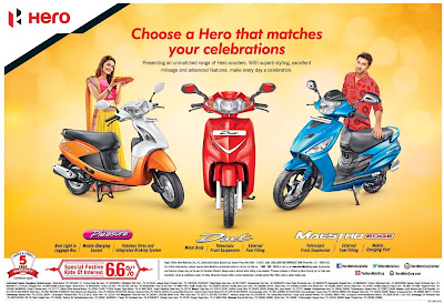 Hero scooters/bikes offers  | October 2016 Diwali/Dassehra festival discount offers