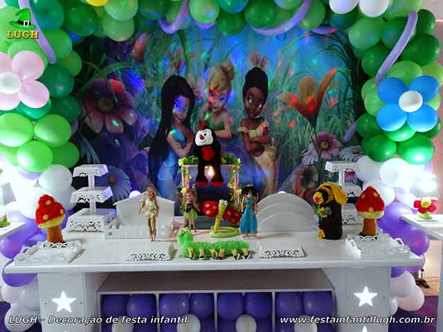 Mesa decorativa Tinker Bell (Sininho) provençal - aniversário infantil
