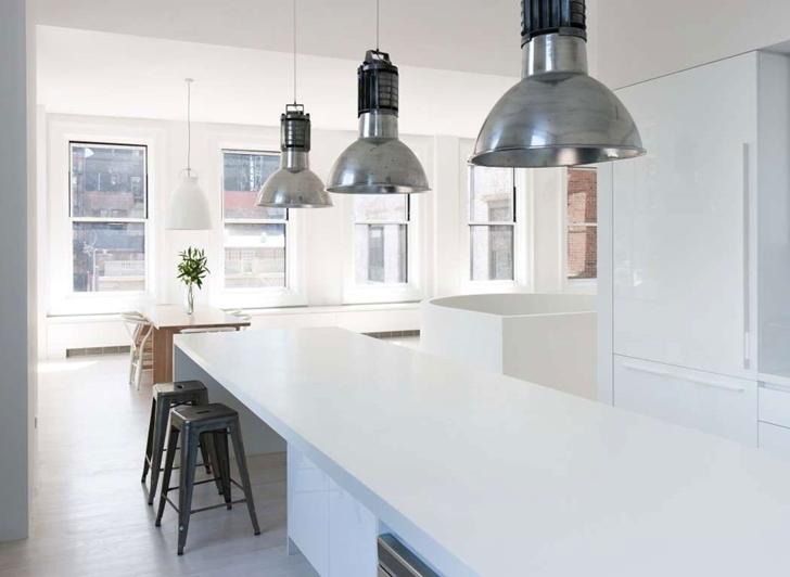 "Large kitchen island in Modern New York Apartment by ""Resolution: 4 Architecture"""