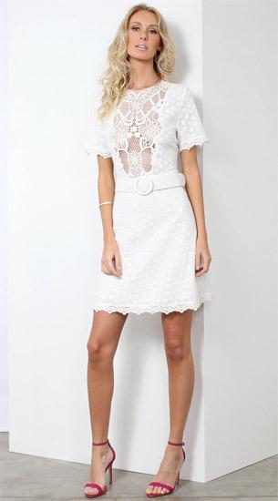 vestido branco de renda Linda de Morrer verão