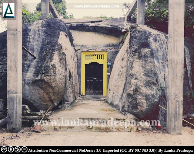 The cave temple at Samanabedda, Ampara
