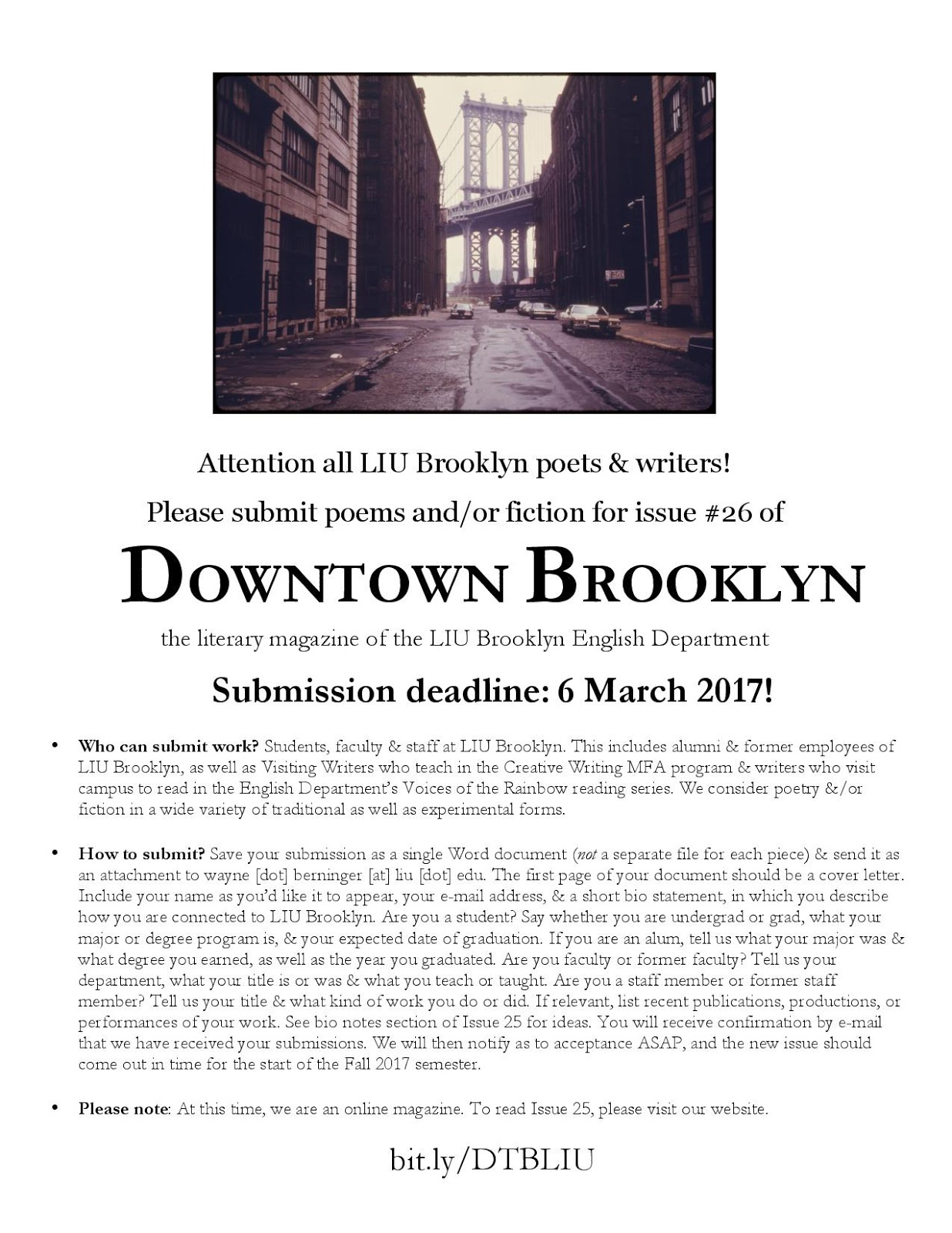 the longest island: Downtown Brooklyn: A Journal of Writing -- Issue