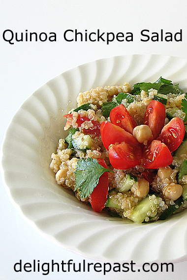 Quinoa Chickpea Salad / www.delightfulrepast.com