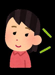 語学の勉強をする人のイラスト(女性・リスニング)