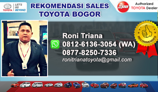 Rekomendasi Sales Toyota Kota Bogor Jawa Barat