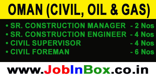 Oman Civil Jobs in Oil and Gas