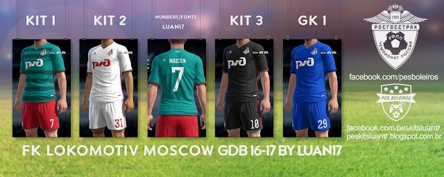 PES 2016 FK Lokomotiv Moscow Kit Season 2016-2017