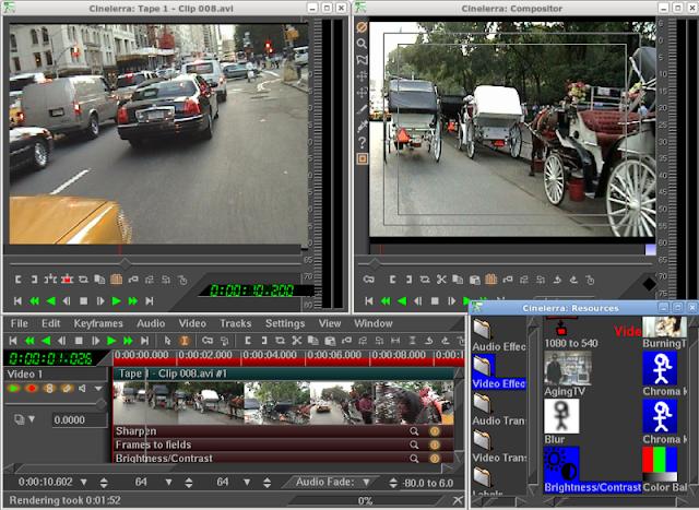 top video editing software for linux ubuntu