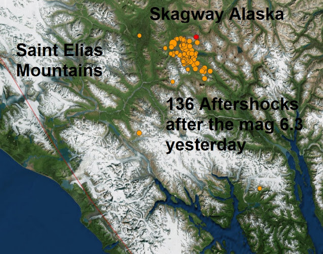 Another cluster of aftershocks rattle Skagway Alaska  Untitled