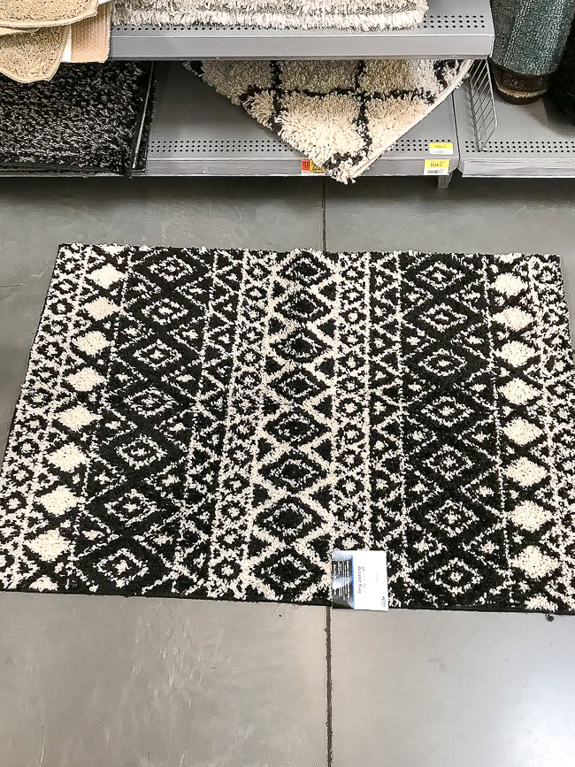 Black and white shag rug from Walmart