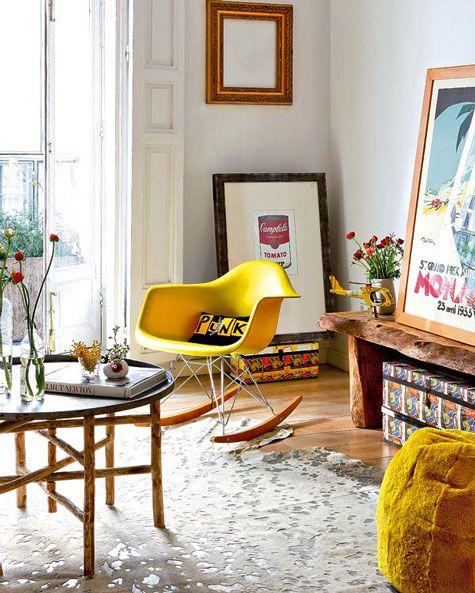 cadeiras Eiffel na decoração sala