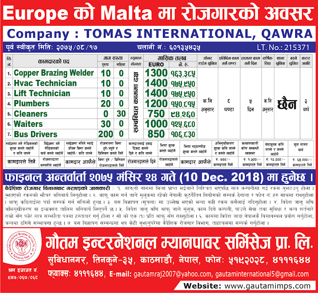 Gautam International Manpower Services Pvt. Ltd. jagiredai