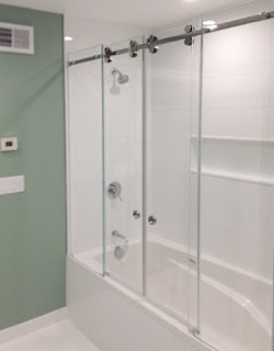 2 PANEL TUB ENCLOSURE- SEMI - FRAMELESS  NEW YORK