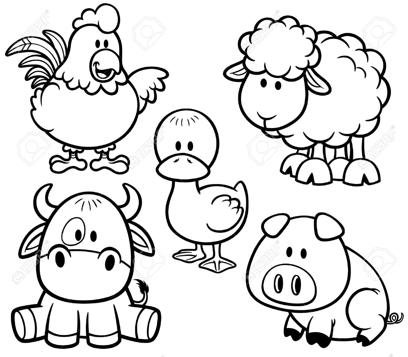 Cute Baby Farm Animal Coloring Pages ~ Best Coloring Pages ...
