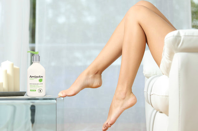 Soft skin for your legs with AmLactin® Moisturizing Body Lotion  by Barbies beauty bits