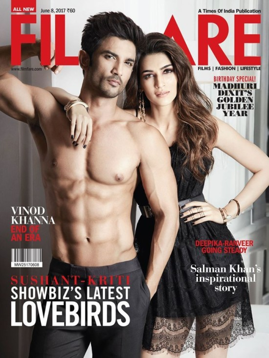 Kriti Sanon and Sushant On The Cover of Filmfare Magazine June 2017