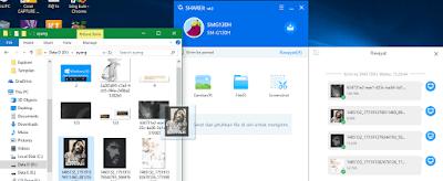 Ilustrasi gambar tampilan pengambilan foto untuk di kirim di shareit hp android