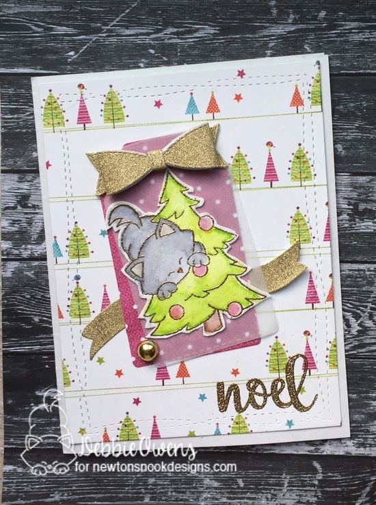 Noel by Debbie features Newton's Curious Christmas and Sentiments of the Seasons by Newton's Nook Designs; #newtonsnook