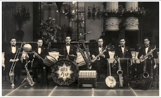 Barzizza, third from the right, with members of his famous Blue Star orchestra