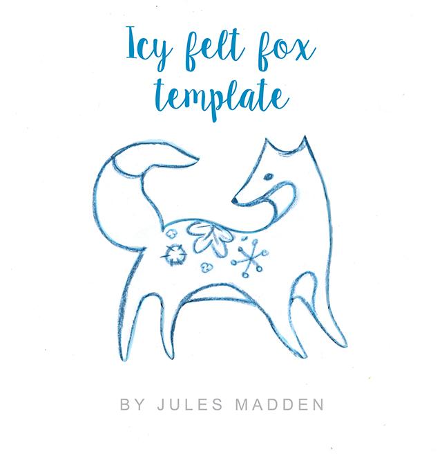 Alisaburke Creating With Jules Ice Felt Fox Ornament