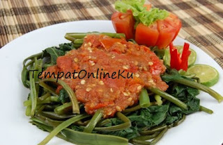 plecing kangkung khas lombok enak lezat