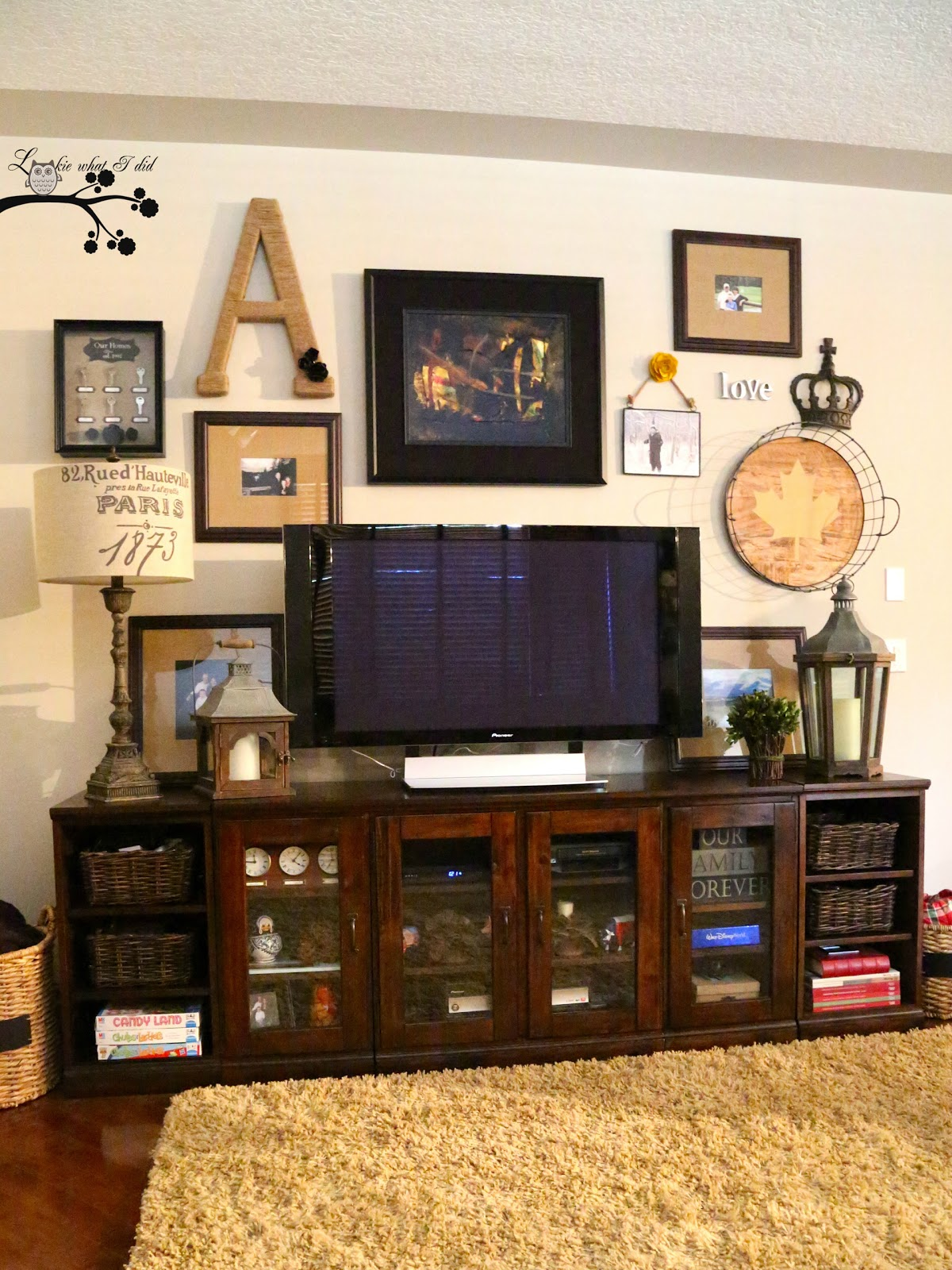 Decorating Ideas Around Tv On Wall Lookie What I Did Picture Gallery Wall In Family Room
