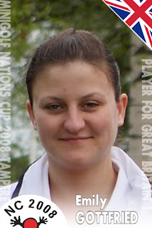 Emily Gottfried's Minigolf Player 'Card' from the 2008 Minigolf Nations Cup