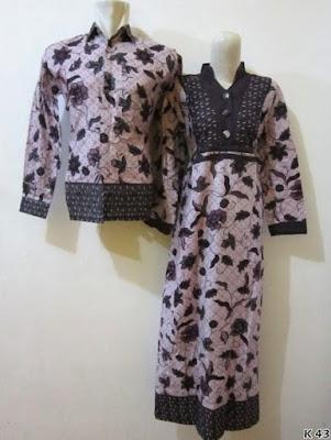 baju couple batik lengan panjang muslim