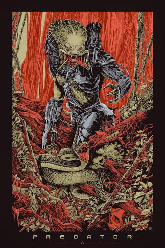 Predator Variant Screen Print by Ken Taylor