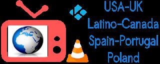 Lista IPTV Latino USA Canada Spain UK Portugal Poland