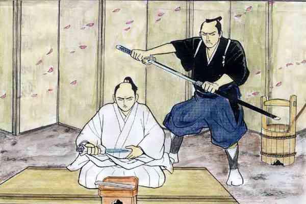 Prosesi Seppuku Samurai dan Kaishakunin